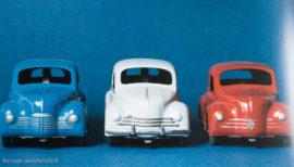 Renault 4 CV - C.I.J. réf. 5/48 au 1/20ème - Les 3 variantes (extrait Les Jouets Renault - M.Duprat)