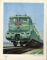 série trains - Illustration par Jean Massé