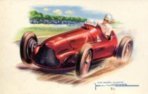Voiture de course- Illustration par Jean Massé