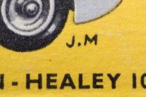 Illustration de boites Dinky Toys signé J.M pour Jean Massé