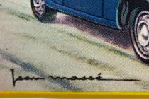 Illustration de boites Dinky Toys signée Jean Massé