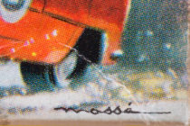 Illustration de boites Dinky Toys signé Massé