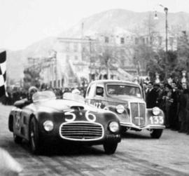 Ferrari 166 S - Vainqueur de la Targa Florio 1948 (Photo d'époque)