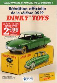 Première publicité pour la Citroën DS 19 -Dinky Toys de mon enfance - Editions Atlas