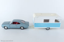 Dinky Toys - Caravane Caravelair Armagnac réf. 564 accrochée à l'Opel Rekord réf. 1405