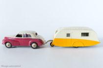 Dinky Toys - Caravane réf. 190 accrochée à la Morris Oxford réf. 40 g