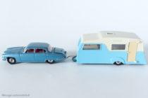 Dinky Toys - Caravane réf. 188 accrochée à la Jaguar Mark X réf. 182