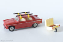 Peugeot 404 avec remorque mono-roue - Dinky Toys France réf. 536