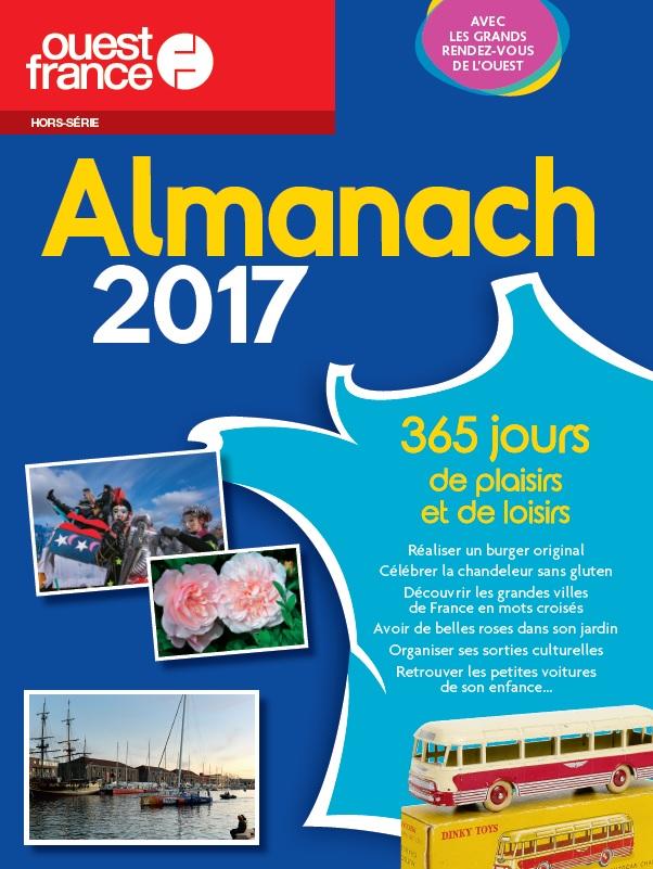 Almanach Ouest France 2017 avec le Chausson Dinky Toys en couverture