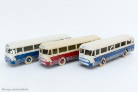 Autocar Chausson Dinky Toys réf. 29F et 571 - 2 couleurs, roues concaves puis convexes
