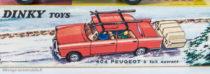 Boite Peugeot 404 Dinky Toys - illustration de paysage de sports d'hiver