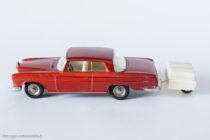 Dinky Toys - remorque monoroue réf. 796 accrochée à la Mercedes 300 SE coupé réf. 533