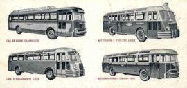 Publicité des autocars Chausson, la gamme au milieu des années 1950