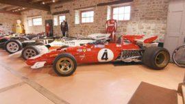 Vue de la collection Richard Mille, Ferrari 312B et les F1