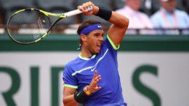 Rafael Nadal en finale de Rolland Garros 2017 avec sa montre Richard Mille au poignet