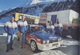 Renault 11 turbo groupe A - les pilotes officiels avant le rallye de Monte Carlo 1987