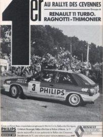 Renault 11 turbo - Publicité Renault 1986