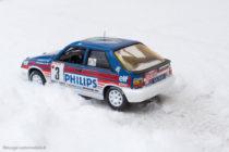 Renault 11 turbo groupe A - 6ème au rallye de Monte Carlo 1987 - IXO / Altaya - Dans la neige !