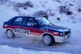 Renault 11 turbo groupe A - 6ème au rallye de Monte Carlo 1987