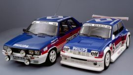 Renault 11 turbo gr. A et Renault 5 maxi Turbo gr. B - Décoration Philips
