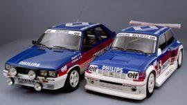 Renault 11 turbo gr. A et Renault 5 maxi Turbo gr. B - Décoration Philips