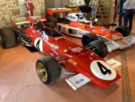Vue de la collection Richard Mille,Ferrari 312B et Mc Laren M23