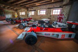 Vue de la collection Richard Mille,Mc Laren M23 et les F1