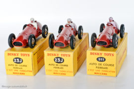Dinky Toys 23J et 511 - Ferrari 500 F2 - les trois variantes