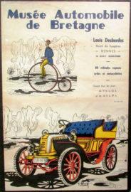 Musée Automobile de Bretagne - Louis Desbordes - Affiche
