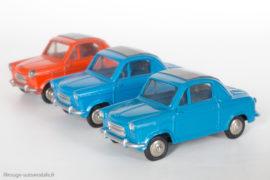 Vespa 400 - Dinky Toys réf. 24L - les couleurs et nuances de bleu