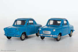 Vespa 400 - Dinky Toys réf. 24L - anomalie : modèle avec peinture argentée oubliée