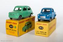 Vespa 400 - Dinky Toys réf. 24L et Fiat 600 - Dinky Toys anglais réf. 183