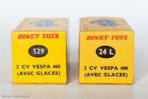 Vespa 400 - Dinky Toys réf. 24L et 529 - les 2 boites