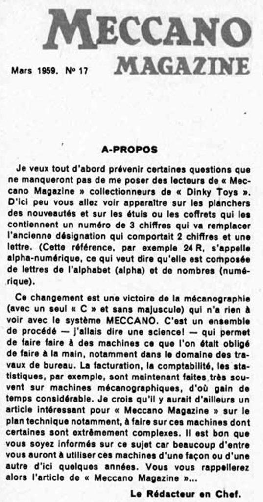 Meccano Magazine mars 1959
