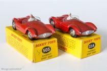 Dinky Toys réf. 505 et 22A - Maserati Sport 2000 - roues concaves et convexes