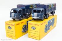 Dinky Toys réf. 32AB et 575 - Panhard SNCF - roues convexes et concaves