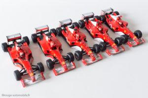 Les Ferrari Championnes du Monde 2000/2004 de Mickaël Schumacher - Hot Wheels au 1/43ème