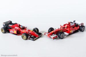 11 années: Ferrari F310 de 1996 et 248 F1 de 2006 - Mickaël Schumacher - Hot Wheels au 1/43ème