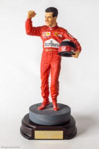 Figurine de Michael Schumacher au 1/9ème - réalisation Endurance Sheercast en 2000