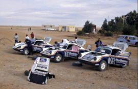 Les trois Porsche 911 4x4 du Paris Dakar 1984