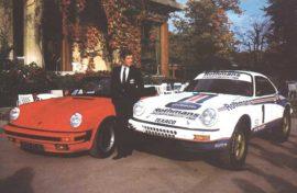 Porsche 911 version tourisme et version 4x4 en vue du Paris Dakar 1984, avec Jacky Ickx