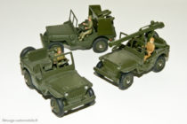 Dinky Toys réf. 80BP, 828, 829 - Jeep Hotchkiss Willys