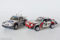 Porsche 911 4x4 vainqueur Paris Dakar 1984 - AMR Minichamps réf. 390 & Porsche 911 2ème du Safari Rally 1978 - Solido MRE