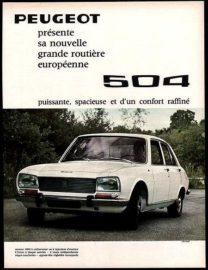 Publicité pour la Peugeot 504