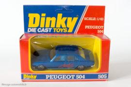 Peugeot 504 berline - Dinky Toys / Cougar réf. 1406 / 505