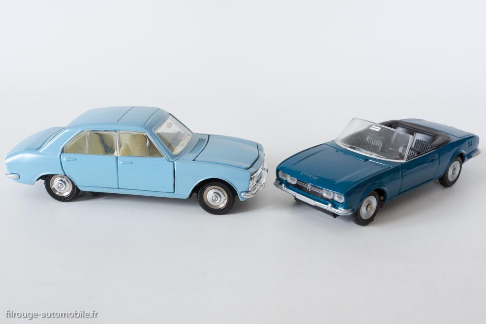 Peugeot 504 berline et cabriolet - Dinky Toys réf. 1415 et 1423