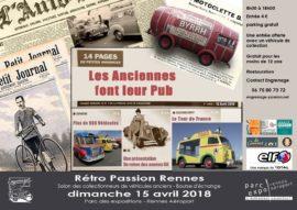 Affiche de Rétro Passion Rennes 2018