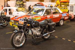 Rétro Passion Rennes 2018 - Peugeot 604 et moto BMW Tour de France