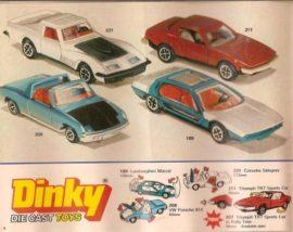 Catalogue Dinky Toys Grande Bretagne 1977 - Lamborghini Marzal dernière version
