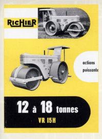 Publicité Richier pour rouleau compresseur